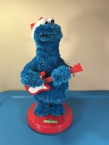 Gemmy-Sesame-Street-Cookie-Monster-Blue-Christmas-Animated-Guitar-SEE-VIDEO-16-034