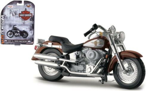 Harley Davidson 2000 FLSTF Fat Boy Maisto Motorcycle Modelo 1:24