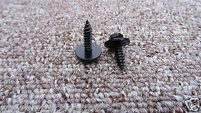 Black 4.8 X 19 Mm Bmw Self Tapping Tapper Screw & Washer *8mm Hex Head*