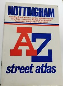 NOTTINGHAM-A-Z-STREET-ATLAS-INDEX-IN-GOOD-COMPLETE-CONDITION-1991-ed