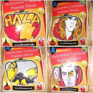 Halloween-Costume-Pajama-Shirt-Vintage-Collegeville-Ben-Cooper-Moschino-70-039-s