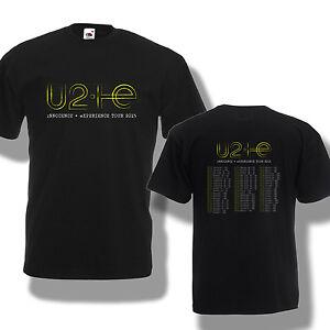 Experience 2015 Innocence Rock Men Tour World U2 Concert T Shirt tqAIf