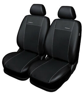 AUDI-A4-2x-Front-Faux-Leather-Universal-Seat-Covers-Black