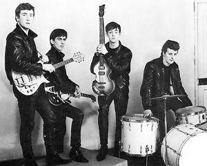 The-Beatles-with-Pete-Best-BW-10x8-Photo