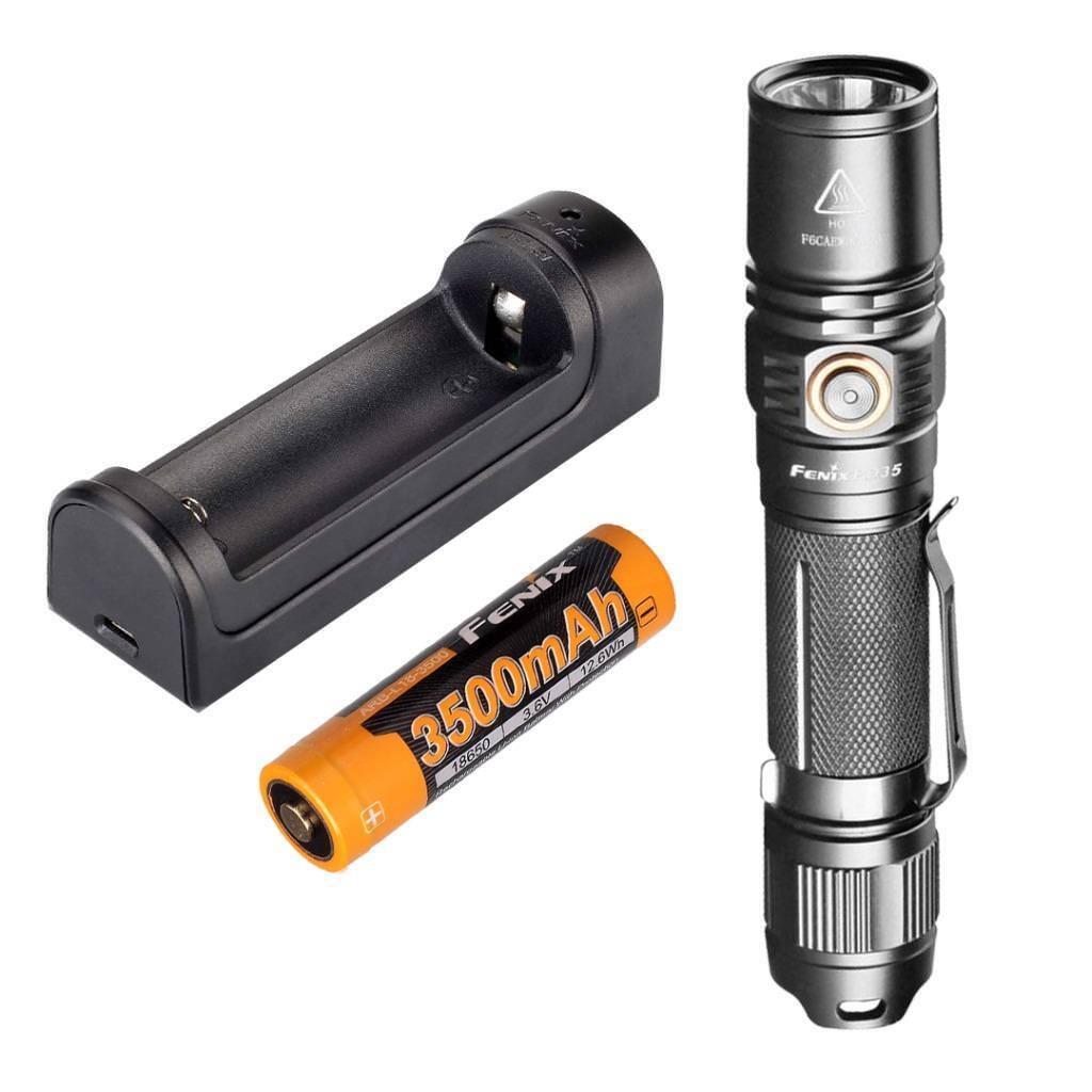 Fenix PD35 V2.0 2018 Upgrade 1000 Lumen Flashlight w 3500mAh Battery & Charger