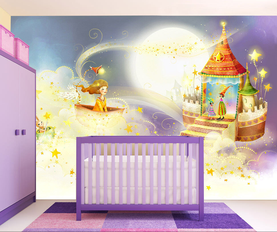 3D Star ship house Wall Paper Print Decal Wall Deco Indoor wall Mural