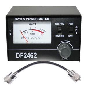 CB-SWR-amp-Leistungs-Messgerat-Maas-Sohn-Model-DF2462-Meter-CB-Radio