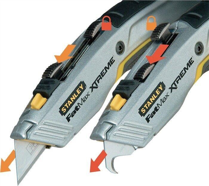 STANLEY Universalmesser PRO 2-IN-1 Messer Cutter Teppichmesser + 4 Ersatzklingen Ersatzklingen Ersatzklingen 88e112