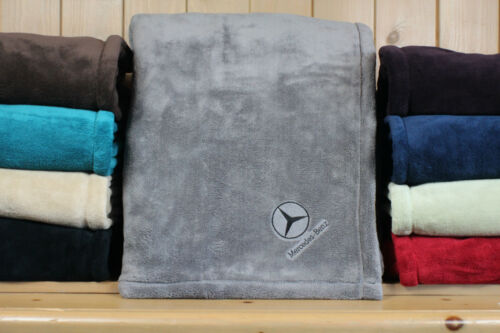Mercedes Benz Luxury Embroidered Throw  Blanket  /'The Autobahn Collection/'