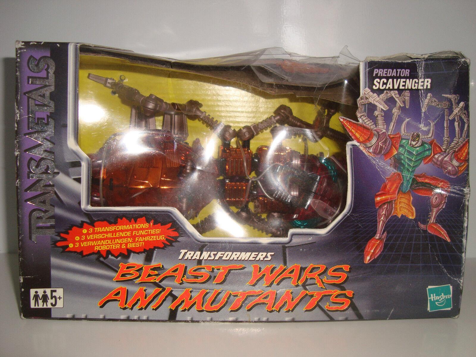 Personaggio Transformers Transmetal Predator Scavenger Beast Wars Ani Mutant