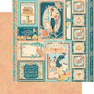 Graphic45 CREME DE LA CREME 12x12 Dbl-Sided Scrapbooking (2PC) Papers CAFE