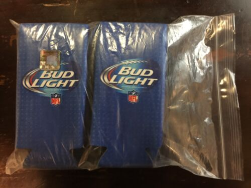 Set of 10 Brand New Bud Light NFL Official Beer Can Coozies.