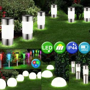 Design LED Außen Kugel Steck Erdspieß Lampe Leuchte Beleuchtung Garten Veranda