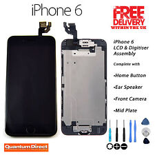 BLACK Retina LCD & Digitiser Touch Screen Full Assembly with Parts FOR iPhone 6