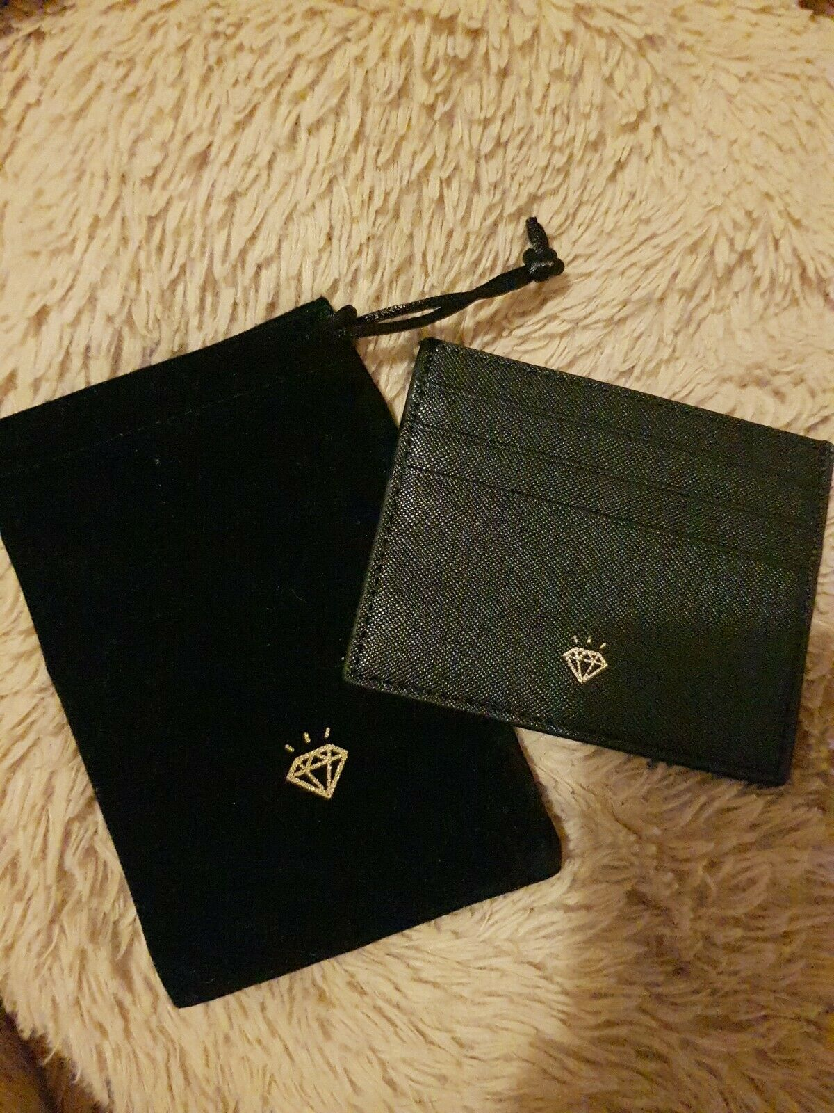 Black Unisex TKMaxx Treasure Faux Leather Card Holder & Pouch new