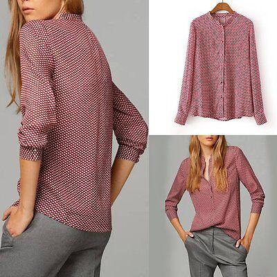 New Fashion Women Lady Summer Loose Tops Long Sleeve Shirt Casual Blouse T-Shirt