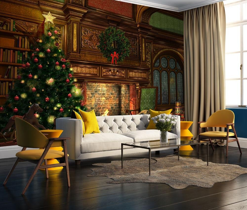 3D Der weihnachtsbaum5430 Fototapeten Wandbild Fototapete BildTapete Familie