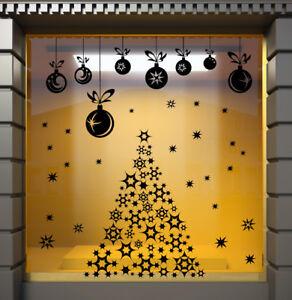 CHRISTMAS-TREE-WINDOW-STICKERS-XMAS-Wall-Sticker-Decal-Christmas-Stickers-N131