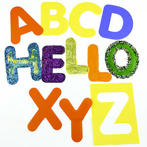 Alphabet Stencils Washable Upper or Lower Case 26 Individual Stencils
