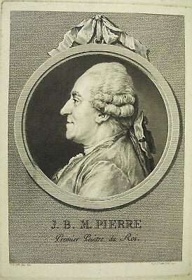 EnéRgico Jean-baptiste Marie Pierre Peintre Du Roi Sc Augustin De Saint-aubin Xviiie 1770 Excelente Calidad