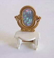 PLAYMOBIL (H310) PRINCESSES - Meuble Coiffeuse Blanche avec Miroir Doré 3020