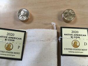 BU//MS 2020 Native American Dollar In Snaplock Holder Fresh from the U.S Mint