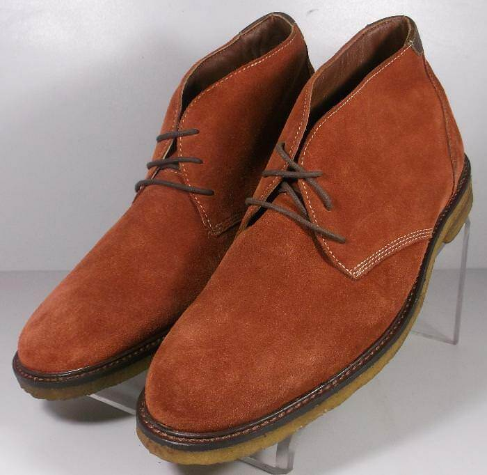 251878 MSBT50 Men's shoes Size 8.5 Brown Leather Boots Lace Up Johnston & Murphy