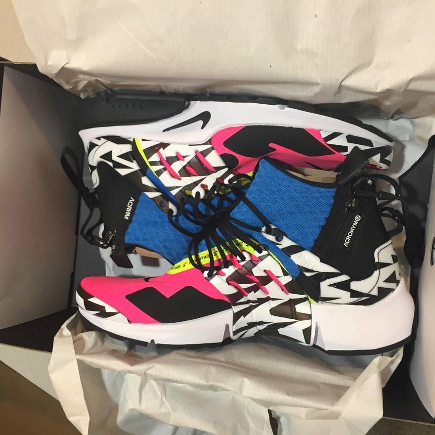 Nike Air Presto MID SP x Acronym - Racer Pink Photo bluee Size 10-12 AH7832-600