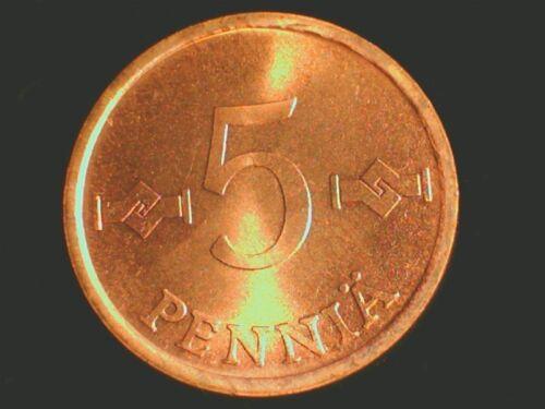 1957+ 0.01 TO 1 MARKKA FINLAND VINTAGE UNC 9 COIN VARIETY SET