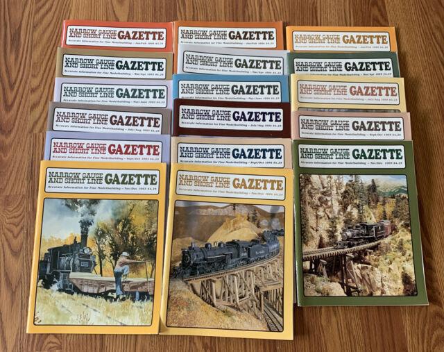 Narrow Gauge & Short Line Gazette 1993-1995 17 Issue Near