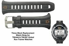 Genuine Timex Black Resin Watch Strap for Timex T5K444 , T5K267 Global Trainer
