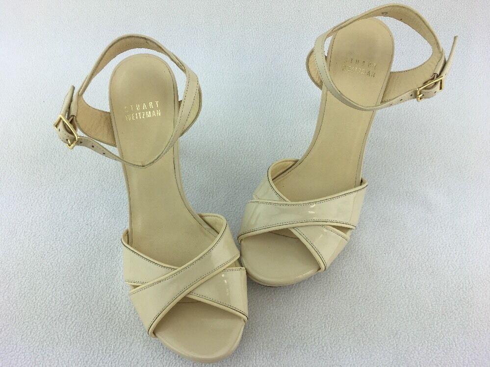 Stuart Weitzman Nexus Bambina Aniline Platform Sandal Size 6M 6M Size  B1112# 4c9889