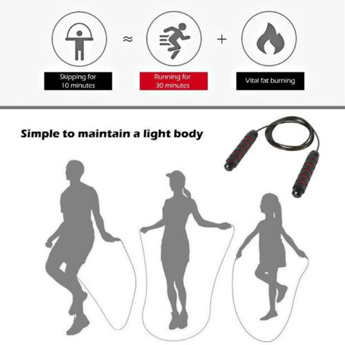 Jump Rope Tangle Free With Ball Bearings Rapid Speed Crossfit Fitness Equipment