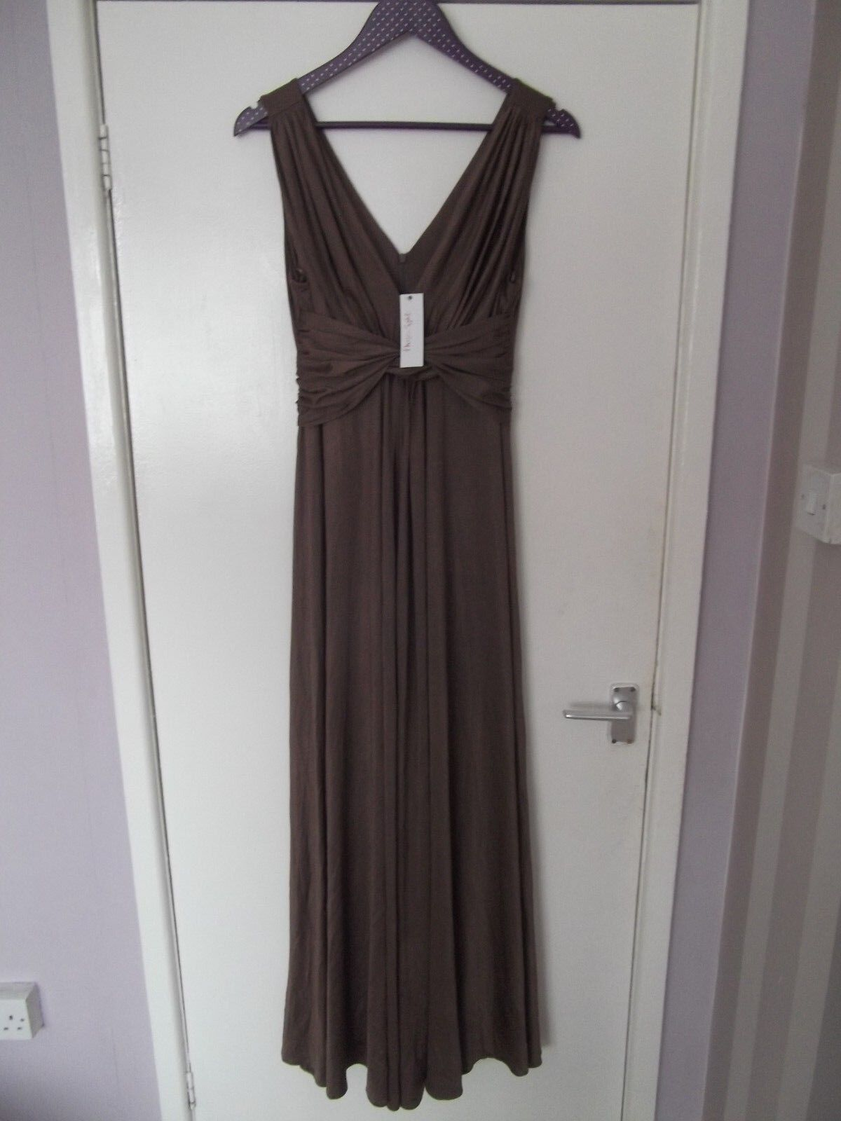 Ladies PHASE BROWN MAXI DRESS NEW WITH TAGS