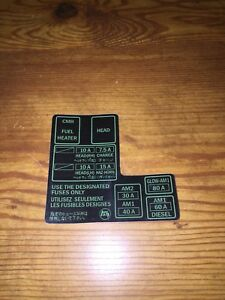 1984 1988 toyota pickup truck 4runner fuse box 22re rdecal sticker Aftermarket Fuse Box image is loading 1984 1988 toyota pickup truck 4runner fuse box
