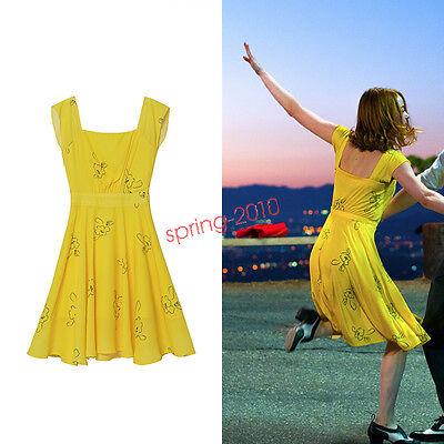 La La Land Mia Yellow Dress Cosplay Fancy Dress