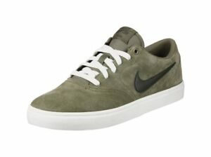 7590a29a44cb NIKE SB CHECK SOLAR SKATEBOARD SUEDE LOW MEN SHOES OLIVE 843895-200 ...