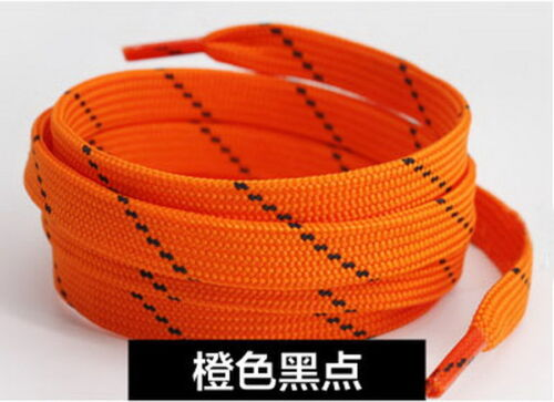 """New Thickening Inclined Point  Flat Shoelaces Skate Canvas Sport Shoes 47/"""" 120cm"""