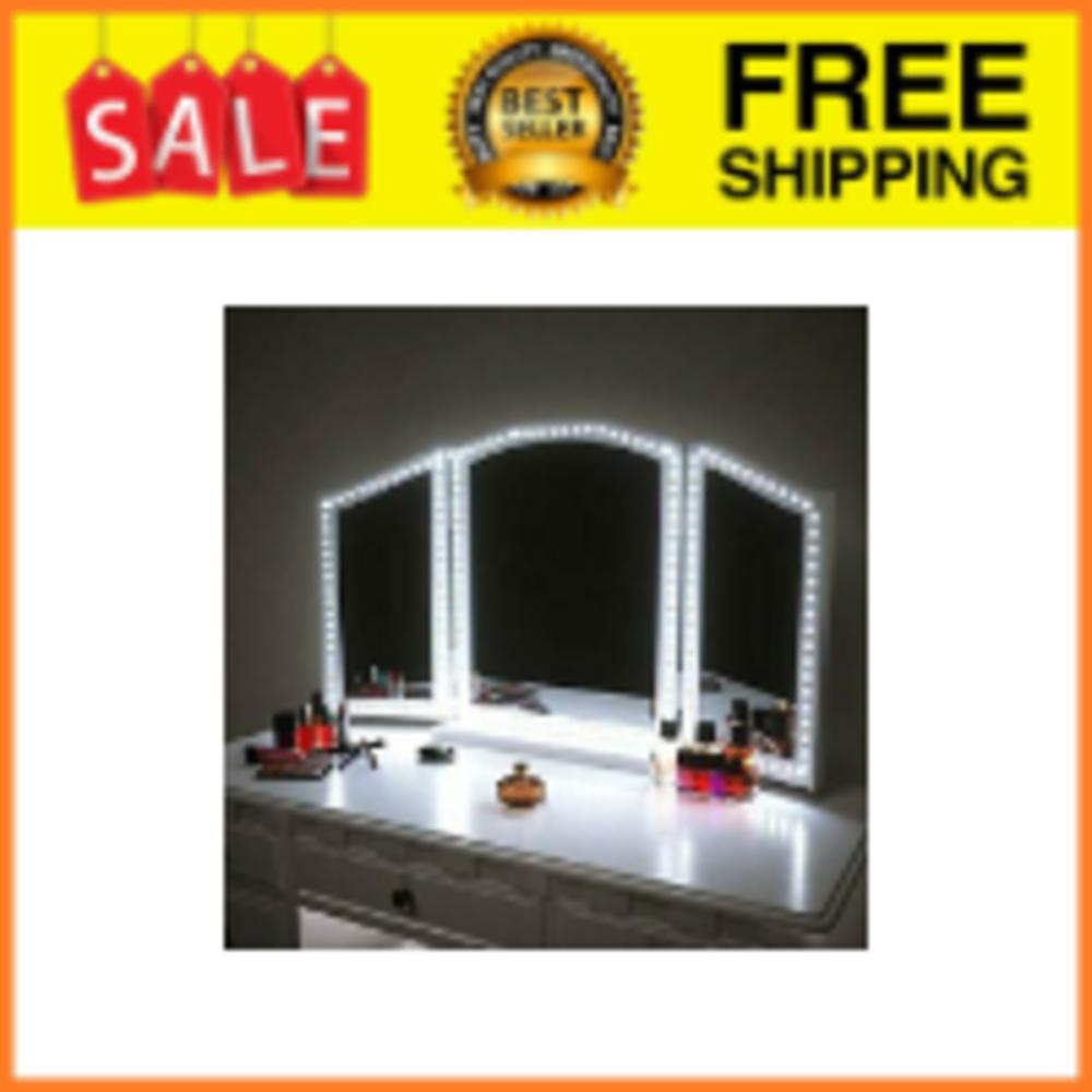 luces de espejo de maquillaje con cable USB con interruptor de sensor de barrido manual espejos de belleza Light String-10 bombillas HITECHLIFE Luces de espejo de tocador LED
