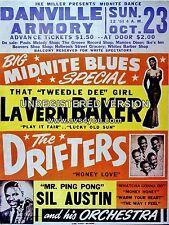 "Lavern Baker / Drifters Danville 16"" x 12"" Photo Repro Concert Poster"