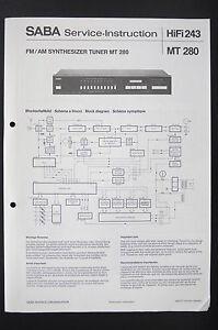 Saba synthesizer tuner mt 280 service instructionmanualdiagram image is loading saba synthesizer tuner mt 280 service instruction manual sciox Images