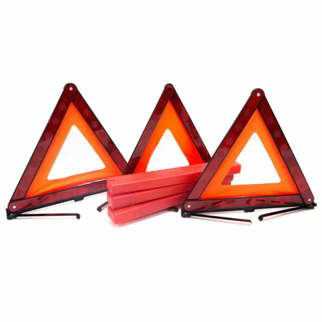 Foldable Warning Triangle Car Emergency Sign Reflective Safety Marked Red KV