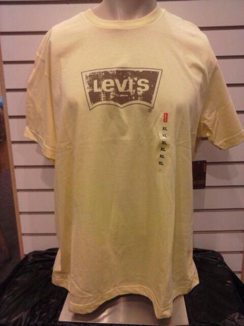 LEVIS MEN'S LOGO PRINTED T-SHIRT *82010Y *YELLOW * S-L-XL-2X *BARGAIN PRICE $12!