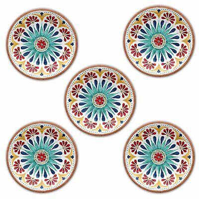 Epicurean Rio Medallion Outdoor//Camping//BBQ-Plastic//Melamine Dinner Plates x 8