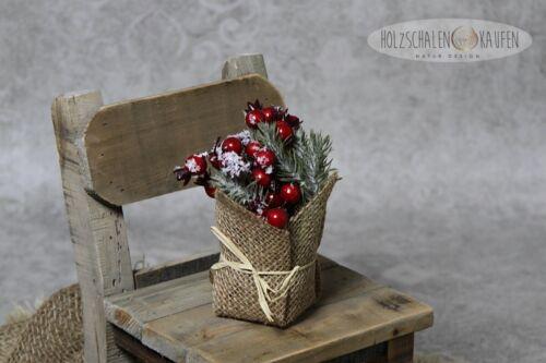 Beerenpick en jute artificielle des myrtilles prunelles Automne Fruits Hiver deco