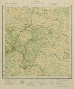 Maps, Atlases & Globes Survey Of India 73 J/ne West Bengal Chandil Dalma Raipur Ranibandh 1929 Map