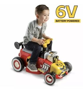 Disney Mickey Mouse Roadster Racer 6 Volt Battery Powered