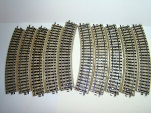 10 x Märklin H0 5120 M-Gleis gebogen in gutem sauberen Zustand