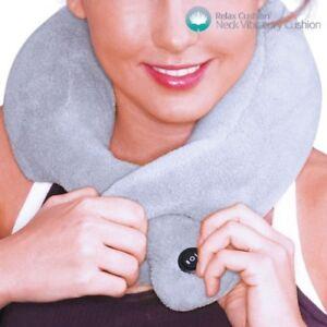 Collare Massaggio Cervicale.Dettagli Su Cuscino Massaggio Collo Cervicale Vibrante Collare Casa Ufficio Viaggio Relax