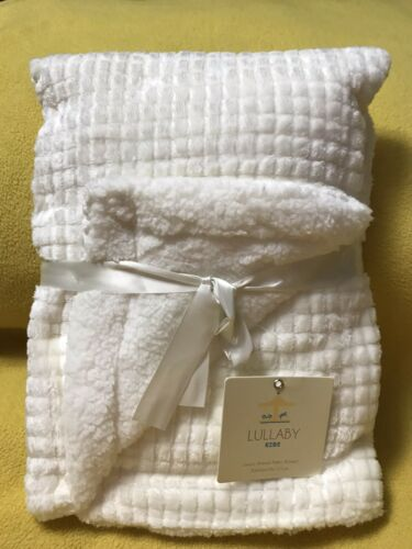 White Luxury Sherpa Baby Blanket